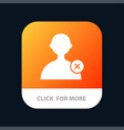 delete man user mobile app button android and ios