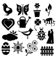 doodle spring images vector image
