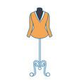 elegant blouse for women in manikin vector image vector image