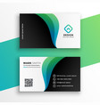 elegant business card design with curve shapes vector image vector image