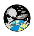 extraterrestrial alien in space vector image