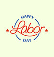 festival labor day logo flat style vector image
