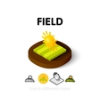Field icon in different style vector image vector image