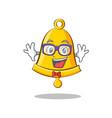 geek school bell character cartoon