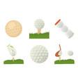 golf ball icon set cartoon style vector image