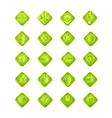 green gradient web and computing icons with vector image vector image