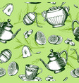 green tea pattern vector image