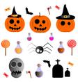 Halloween cute set vector image vector image