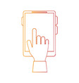 hand and cellphone icon image vector image vector image