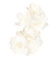 hand drawn summer golden set rustic anemones