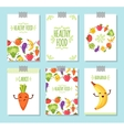 Healty food cartoon representing banners vector image vector image