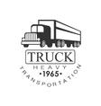 Heavy Trucks Company Club Logo Black And White vector image vector image