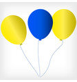 helium balls with symbols of the ukrainian flag vector image vector image