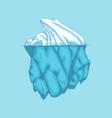 iceberg polar ice mountain glacier icon vector image vector image