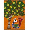 india birdie and tree vector image vector image