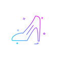 ladies sandal icon design vector image
