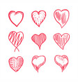 love hand draw set vector image vector image