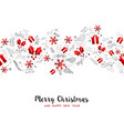 merry christmas new year holiday decoration card vector image vector image
