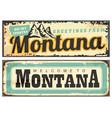 montana usa retro tin signs vector image vector image