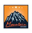 mountain adventure camping climbing logo vector image