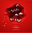 paper art for christmas holiday or happy new year vector image