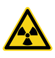 radiation sign yellow vector image vector image