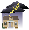 Risk of foreclosure vector image