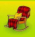 rocking chair pop art vector image