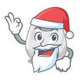 santa plastic bag mascot cartoon vector image