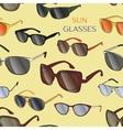 set different sun glasses pattern vector image