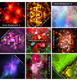 Set of abstract mosaic backgrounds vector image vector image