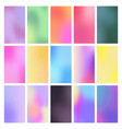 set of color gradient backgrounds vector image
