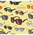 Set of the different sun glasses pattern vector image