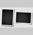 set of two retro realistic photo frames vector image