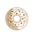 silhouette delicious sweet donut bakery snack vector image vector image