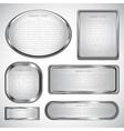silver label vector image vector image
