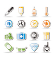 simple medical themed icons and warning-signs vector image vector image