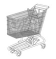 sketch shopping trolley vector image