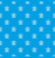 snack pattern seamless blue vector image