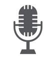 studio microphone glyph icon music and audio vector image