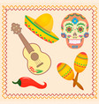 symbolic for the mexican holiday dia de los vector image vector image