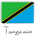 Tanzania flag doodle vector image vector image
