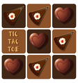 Tic-Tac-Toe of chocolate and cake vector image