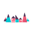 toy houses and mountains flat vector image
