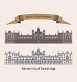 university cambridge building architecture vector image vector image