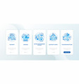 urban resource supply onboarding mobile app page vector image