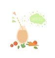 Vegetable smoothie in jar on a table vector image
