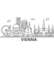 vienna architecture line skyline vector image vector image
