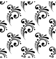 Vintage scrolling floral seamless pattern vector image