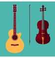 Violin and guitar 1 vector image vector image